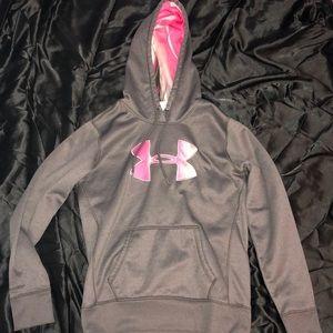 Grey & Pink UA Storm Hoodie
